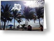 Beach In The Gulf  Greeting Card
