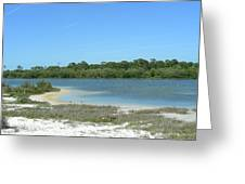 Beach Inland Lake Greeting Card