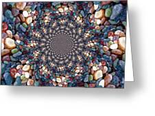 Beach Kaleidoscope Greeting Card