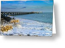 Beach La Tranche Sur Mer Greeting Card