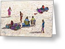 Beach Life Cornwall Greeting Card