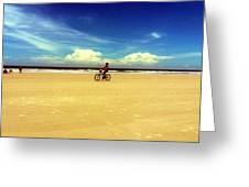 Beach Life On Daytona Beach Greeting Card
