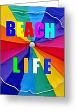 Beach Life Smart Phone Work A Greeting Card