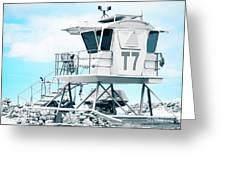 Beach Lifeguard Tower Greeting Card