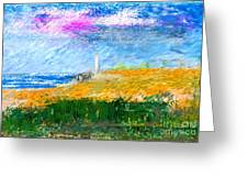 Beach Lighthouse Greeting Card