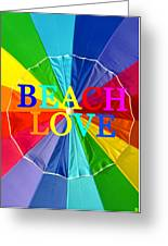 Beach Love Umbrella Spca Greeting Card