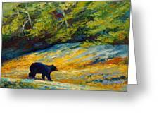 Beach Lunch - Black Bear Greeting Card