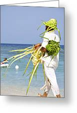 Beach Man Greeting Card
