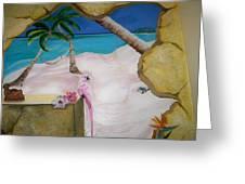 Beach Mural Greeting Card