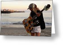 Beach Musician Greeting Card