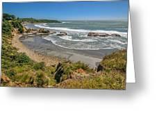 Beach Near Cape Foulwind Greeting Card