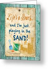 Beach Notes-jp3762 Greeting Card