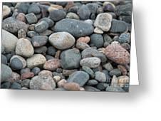 Beach Of Stones Greeting Card