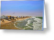 Beach Of The Outer Banks Of N.c. Greeting Card