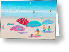 Beach Painting - A Golden Day Greeting Card