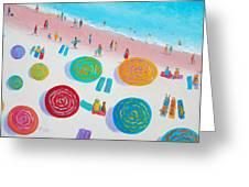 Beach Painting - A Walk In The Sun Greeting Card