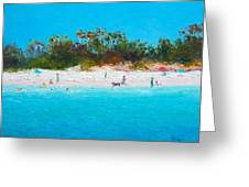 Beach Painting All Summer Long Greeting Card