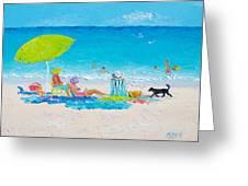Beach Painting - Lazy Beach Day Greeting Card