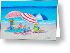 Beach Painting - Summer Beach Vacation Greeting Card