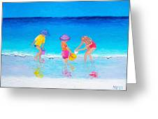 Beach Painting - Water Play  Greeting Card