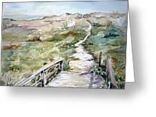 Beach Path Greeting Card by Dorothy Herron