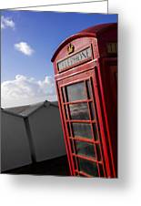 Beach Phonebox Greeting Card