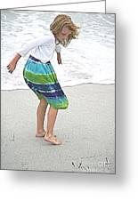Beach Play Time Greeting Card