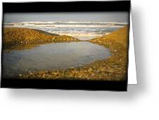 Beach Puddle Greeting Card
