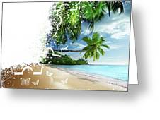 Beach Puzzle Greeting Card