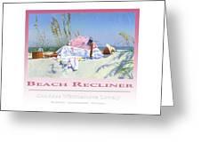 Beach Recliner Poster Greeting Card
