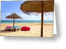 Beach Relaxing Greeting Card