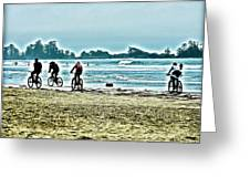 Beach Ride Greeting Card
