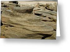 Beach Rock Formation Greeting Card