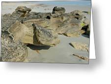 Beach Rocks Greeting Card