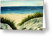 Beach Sand Dunes Acrylic Painting Greeting Card