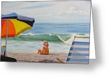 Beach Scene - Childhood Greeting Card