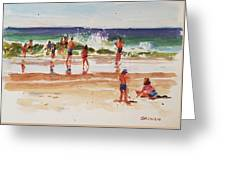 Beach Scene, Afternoon Greeting Card
