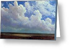 Beach Scene Albert Bierstadt Greeting Card