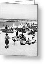 Beach Scene At Cape Cod Greeting Card