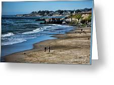 Beach Scene California  Greeting Card