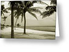 Beach Scene In Key West Greeting Card