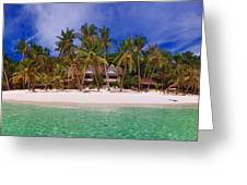 Beach Scene Greeting Card by Joerg Lingnau