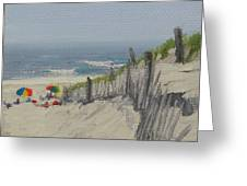 Beach Scene Miniature Greeting Card