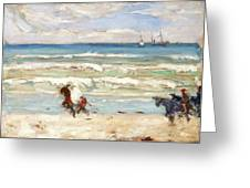 Beach Scene Tangier Greeting Card