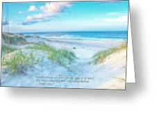 Beach Scripture Verse  Greeting Card