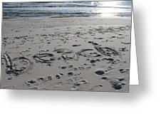Beach, Self-named Greeting Card