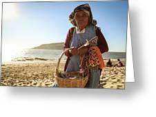 Beach Seller Greeting Card