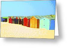 Beach Shacks Down Under Greeting Card