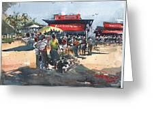 Beach Show Jamaica Greeting Card