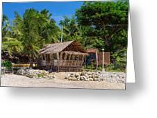 Beach Side Nipa Hut Greeting Card